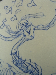 Sketch with 2 Mermaids detail 1