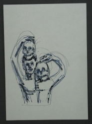 Man with Skull Sketch 9 1992