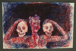 Man with Two Skulls 1992